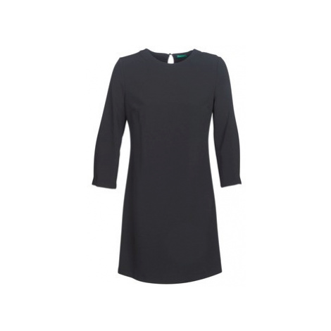 Benetton MESKY women's Dress in Black United Colors of Benetton