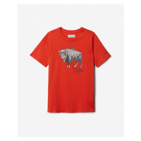 Columbia Peak Point Kids T-shirt Red