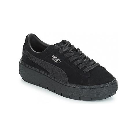 Puma WN PLATFORM TRACE ANIMAL.B women's Shoes (Trainers) in Black