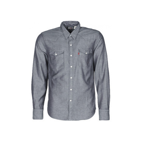Levis BARSTOW WESTERN INDIGO men's Long sleeved Shirt in Blue Levi´s