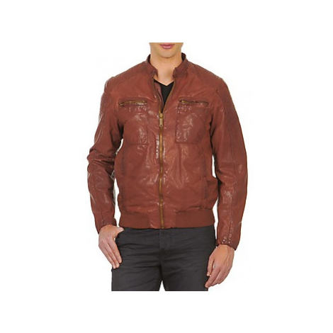 Chevignon B-KING men's Leather jacket in Brown