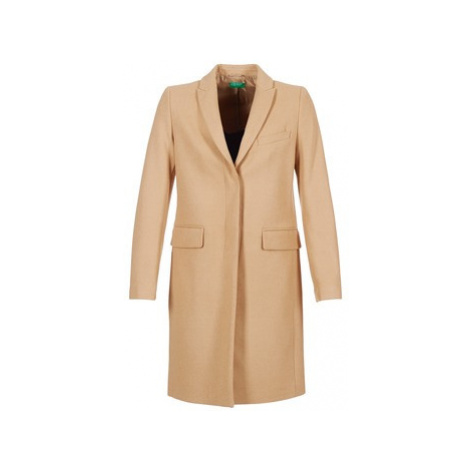 Benetton MADIR women's Coat in Beige United Colors of Benetton