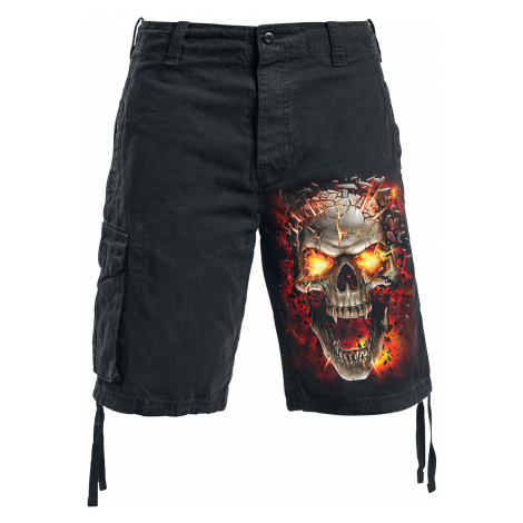 Spiral - Skull Blast - Vintage shorts - black