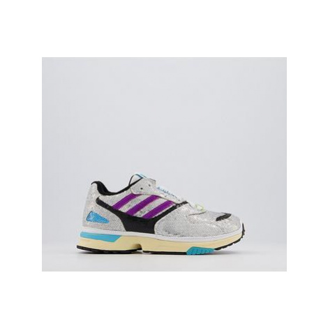 Adidas Zx 4000 Trainers BLACK SILVER PURPLE SEQUIN
