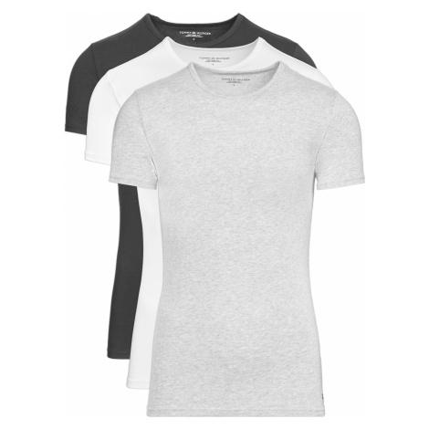 Tommy Hilfiger Undershirt 3 Piece Black White Grey