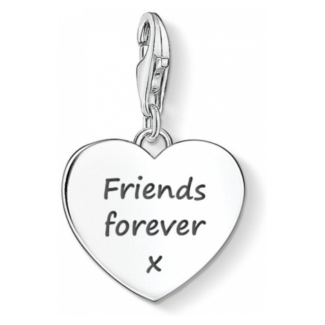 THOMAS SABO Heart Charm Engraved with 'Friends forever x'