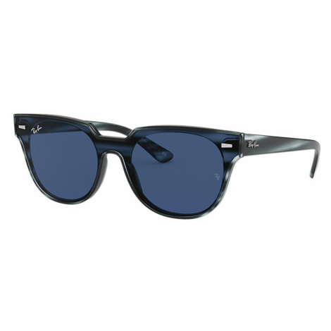 Ray-Ban Blaze meteor Unisex Sunglasses Lenses: Blue, Frame: Striped blue havana - RB4368N 643280