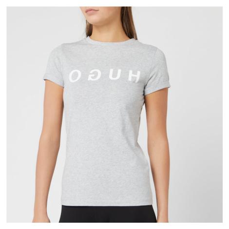 HUGO Women's Denna T-Shirt - Grey Hugo Boss