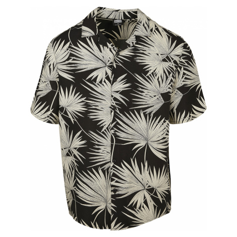 Urban Classics - Frond Resort Shirt - Workershirt - black-white