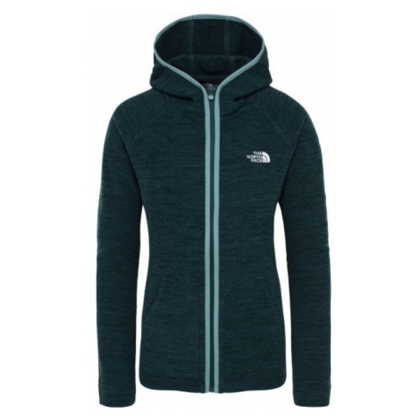 The North Face NIKSTER FULL ZIP H dark green - Women's sweatshirt
