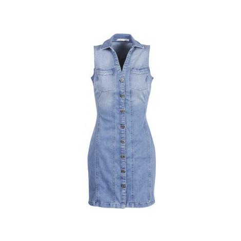 Blue sleeveless dresses