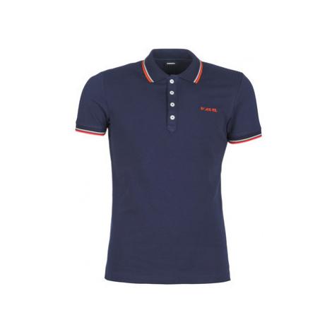Diesel T RANDY BROCKEN men's Polo shirt in Blue