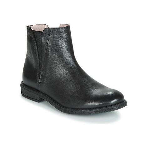Acebo's 9671-NEGRO-T girls's Children's Mid Boots in Black