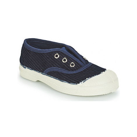 Blue girls' canvas trainers