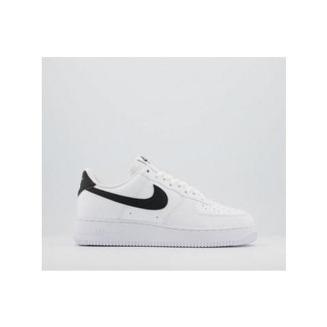 Nike Air Force 1 07 Trainers WHITE BLACK