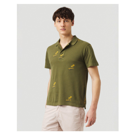 O'Neill Palm All Over Polo T-shirt Green