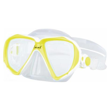 Finnsub CORAL JR MASK yellow - Children's diving mask
