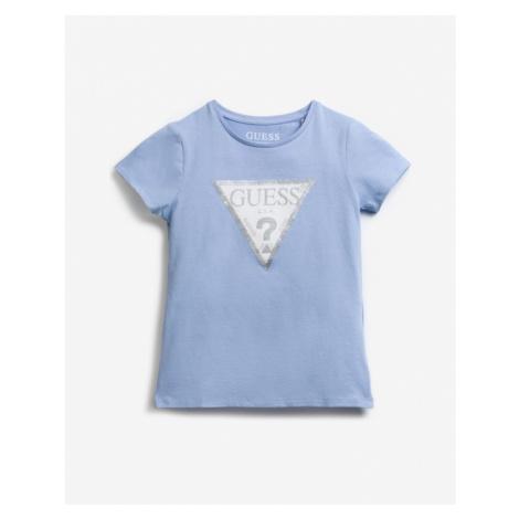 Guess Sequins Front Logo Kids T-shirt Blue