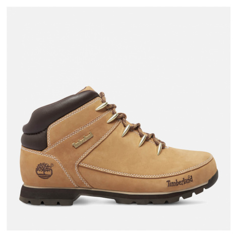 Timberland Men's Euro Sprint Leather Hiker Style Boots - Wheat - UK