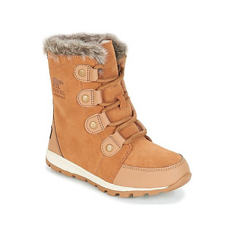 Sorel YOUTH WHITNEY SUEDE girls's Children's Mid Boots in Brown