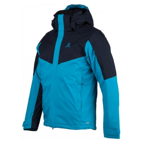 Salomon STORMSEEKER JKT M blue - Men's ski jacket