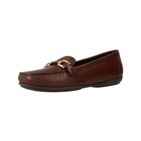Geox D ANNYTAH M0C women's Loafers / Casual Shoes in Brown