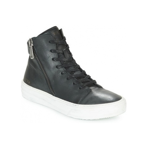 Replay BANG men's Shoes (High-top Trainers) in Black