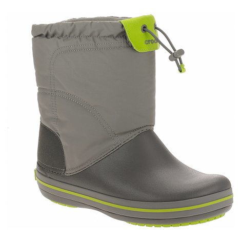 shoes Crocs Crocband Lodgepoint Boot - Smoke/Graphite - unisex junior