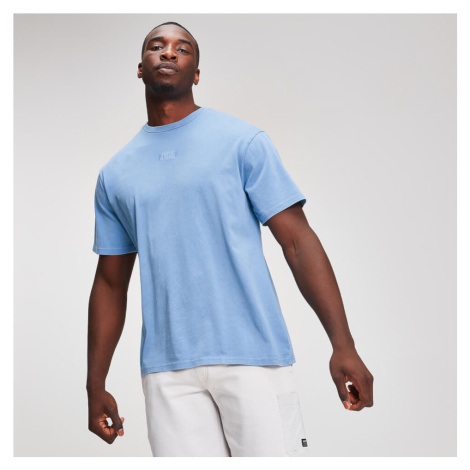MP Graphic Men's Embroidered T-Shirt - Sky Blue