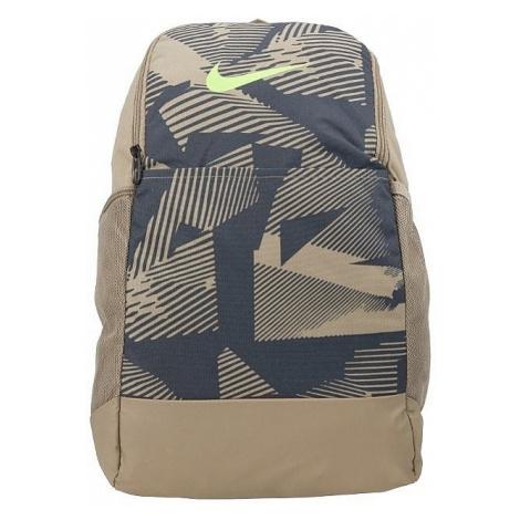 backpack Nike Brasilia Medium AOP - 247/Khaki/Dark Smoke Gray/Ghost Green