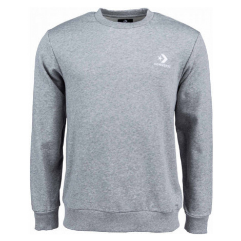 Converse STAR CHEVRON EMB CREW FT grey - Men's sweatshirt