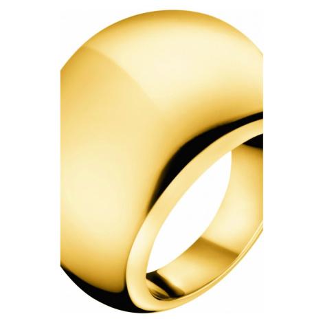 Ladies Calvin Klein PVD Gold plated Size N Closed Ring KJ3QJR100107