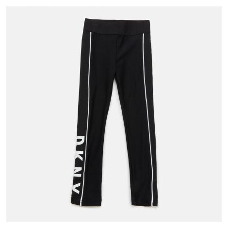 DKNY Girls' Jersey Logo Leggings - Black