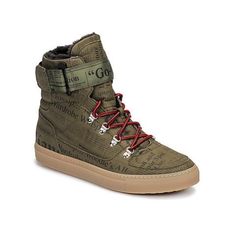 John Galliano 8526 men's Shoes (High-top Trainers) in Kaki