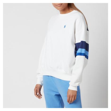 Polo Ralph Lauren Women's Small Polo Logo Relaxed Fit Sweatshirt - White