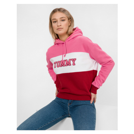 Tommy Jeans Sweatshirt Red Pink Tommy Hilfiger