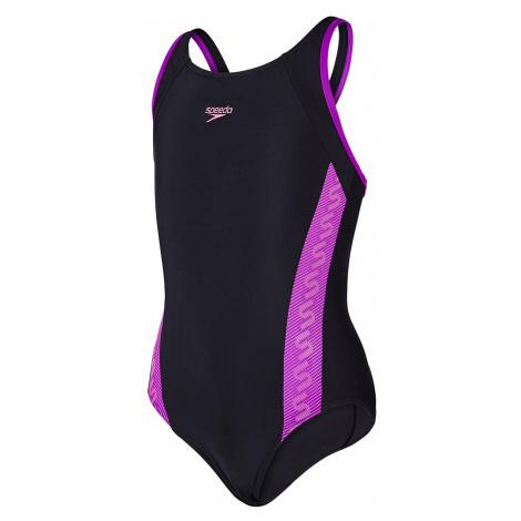 Girls Monogram Muscleback Swimsuit Speedo