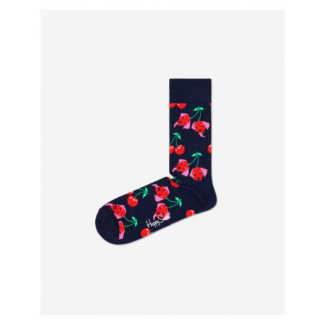 Happy Socks Cherry Dog Socks Blue