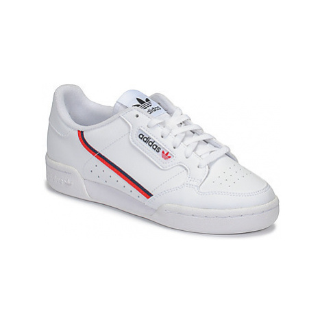 Adidas CONTINENTAL 80 J girls's Children's Shoes (Trainers) in White