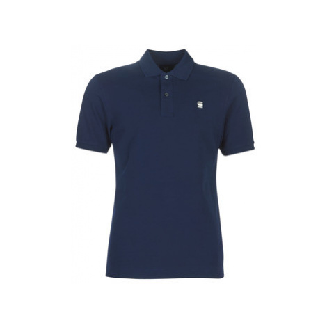 G-Star Raw DUNDA SLIM POLO men's Polo shirt in Blue