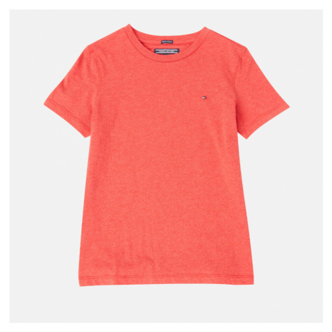 Tommy Hilfiger Boys' Basic Short Sleeve T-Shirt - Apple Red Heather