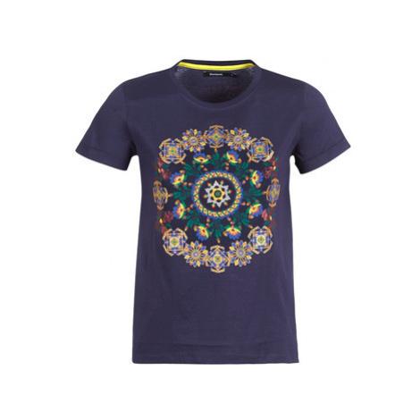 Desigual ANNETTE women's T shirt in Blue