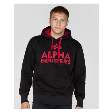 Alpha Industries Foam Print Hoody Black Red