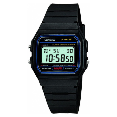 Casio F91W Alarm Chronograph Watch Black