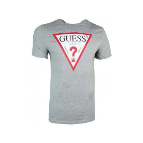 Guess CN Original Logo Core Tee men's T shirt in Grey