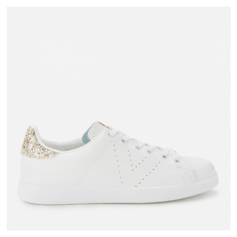 Victoria Women's Sustainable Leather Cupsole Trainers - Cava - UK