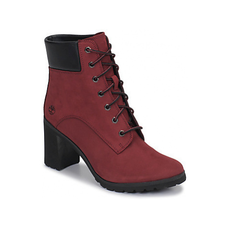 Timberland ALLINGTON 6IN LACE UP women's Low Ankle Boots in Red