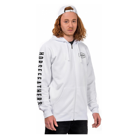 sweatshirt Horsefeathers Fort Zip - White