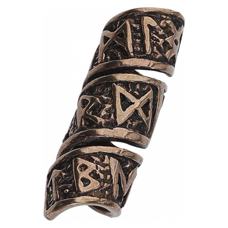 Symbols Beard Beads Bronze coloured
