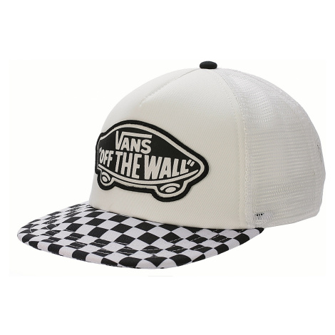 cap Vans Beach Girl Trucker - Black/White/Checkerboard